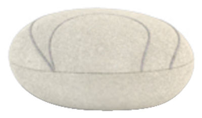 Coussin Yann Livingstones / Laine - 29x26 cm - Smarin blanc en tissu