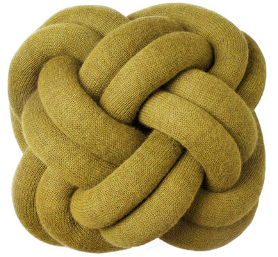 Decoration - Cushions & Poufs - Knot Cushion by Design House Stockholm - Yellow - Acrylic, Wool
