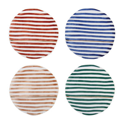 Tableware - Plates - Casablanca Dessert plate - / Porcelain - Set of 4 by & klevering - Multicoloured - China