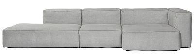 Möbel - Sofas - Soft Mags Ecksofa / L 314 cm - mit Armlehne links - Hay - Hellgrau / Armlehne links - Gänsefeder, Kvadrat-Gewebe, Spanplatte, Superweicher Schaumstoff