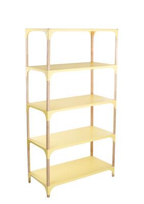 Mobilier - Etagères & bibliothèques - Etagère Pop-Up / L 85 x H 160 cm - Bibelo - Jaune / Frêne - Frêne massif, Métal