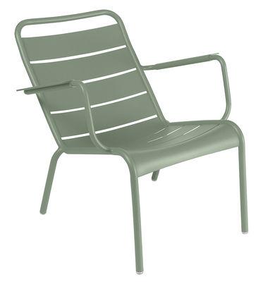 Fauteuil bas Luxembourg / Aluminium - Fermob vert en métal