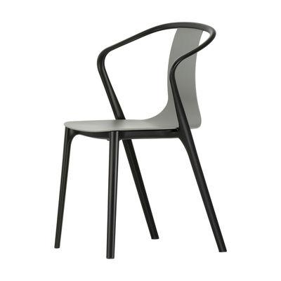 Mobilier - Chaises, fauteuils de salle à manger - Fauteuil Belleville / Plastique - Vitra - Vert mousse - Polyamide