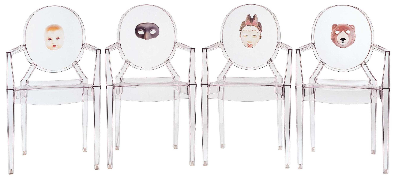 Fauteuil Louis Ghost De Philippe Starck fauteuil empilable louis ghost personnalisé / polycarbonate