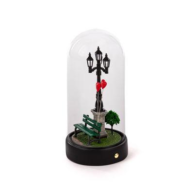 Illuminazione - Lampade da tavolo - Lampada da tavolo My Little Valentine - / LED - H 22 cm di Seletti - Noir / Transparent - Resina, Vetro