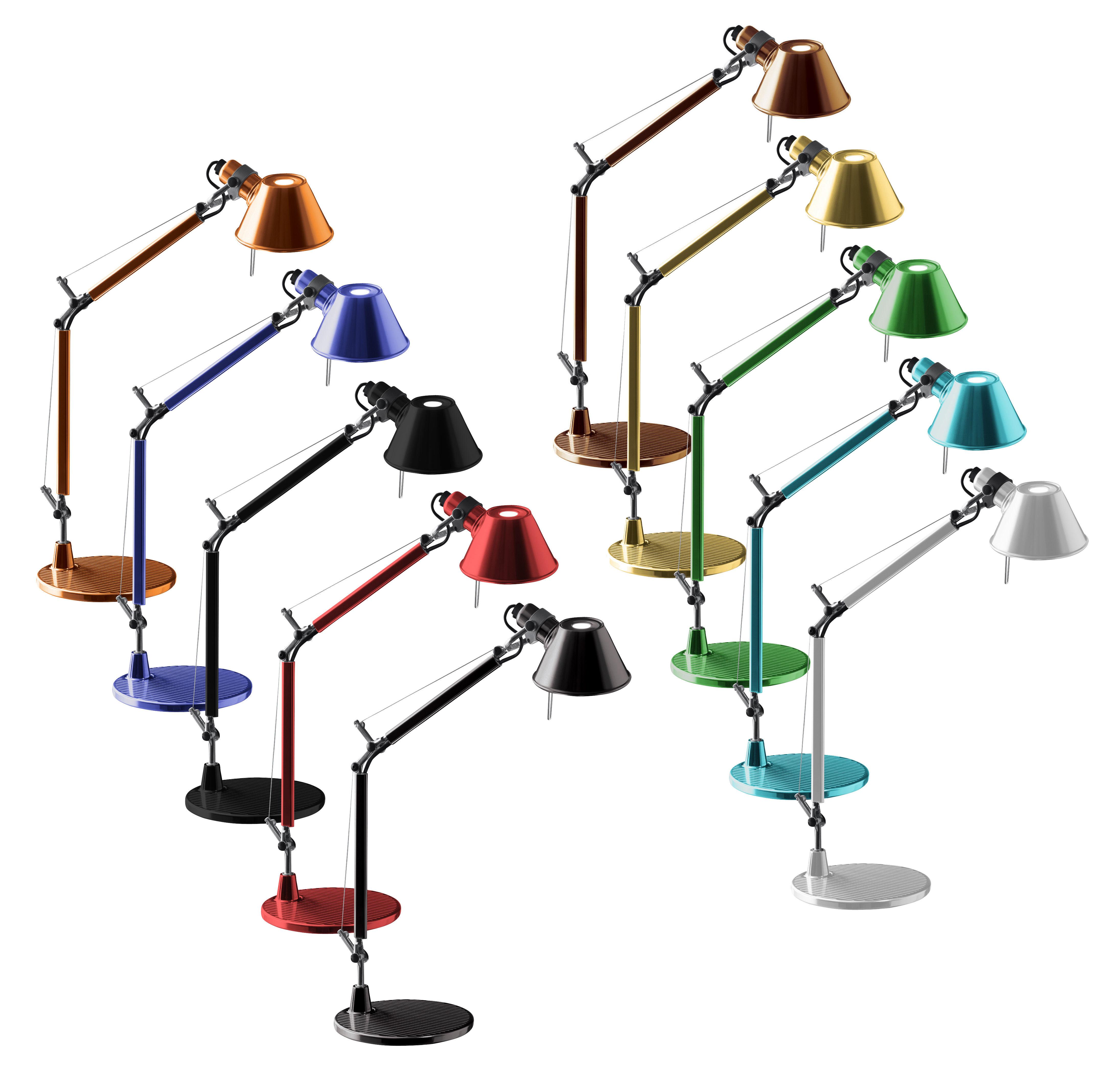 Scopri lampada da tavolo tolomeo micro rosso di artemide made in design italia - Lampada da tavolo tolomeo ...