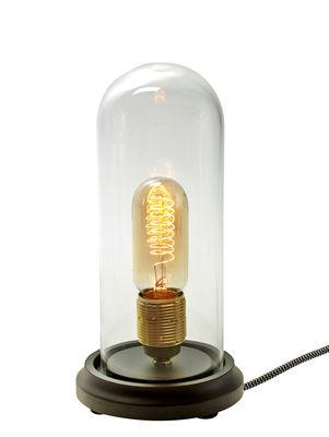 Lampe de table Globe / H 25 cm - Ampoule non fournie - Serax transparent,bois en verre