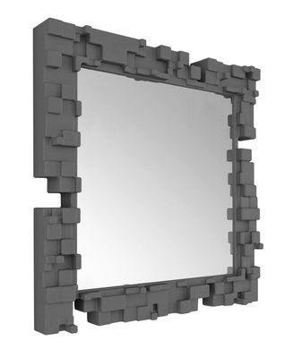Miroir mural Pixel / 80 x 80 cm - Slide gris en matière plastique