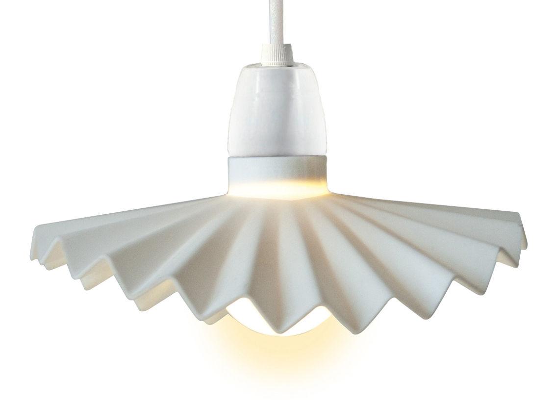 Illuminazione - Illuminazione da esterni - Paralume Cappello - in silicone / Per ghirlanda Bella Vista  di Seletti - Bianco - Silicone