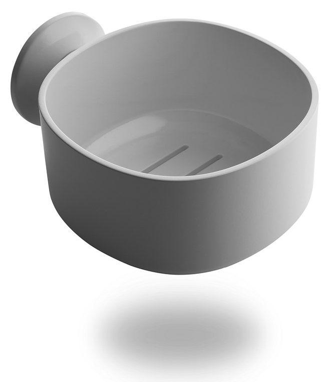 Portasapone birillo alessi bianco h 8 made in design - Accessori bagno alessi ...