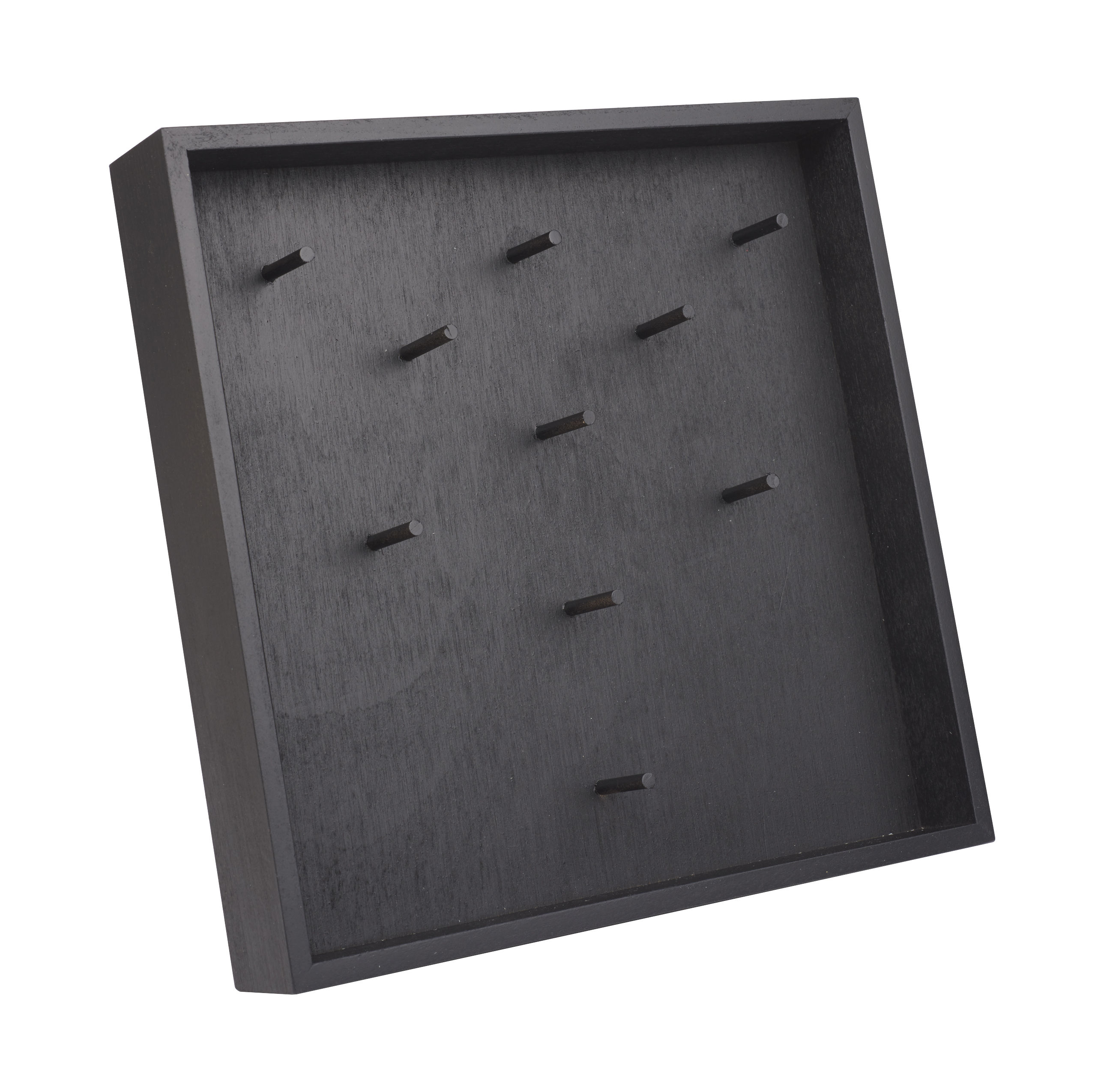 Déco - Boîtes déco - Porte-bijoux / Support clés - à poser ou fixer au mur - L'atelier d'exercices - Noir - Hêtre peint