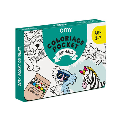 Interni - Per bambini - Poster da colorare Coloriage Pocket - Animaux - / 52 x 38 cm di OMY Design & Play - Animali - Carta