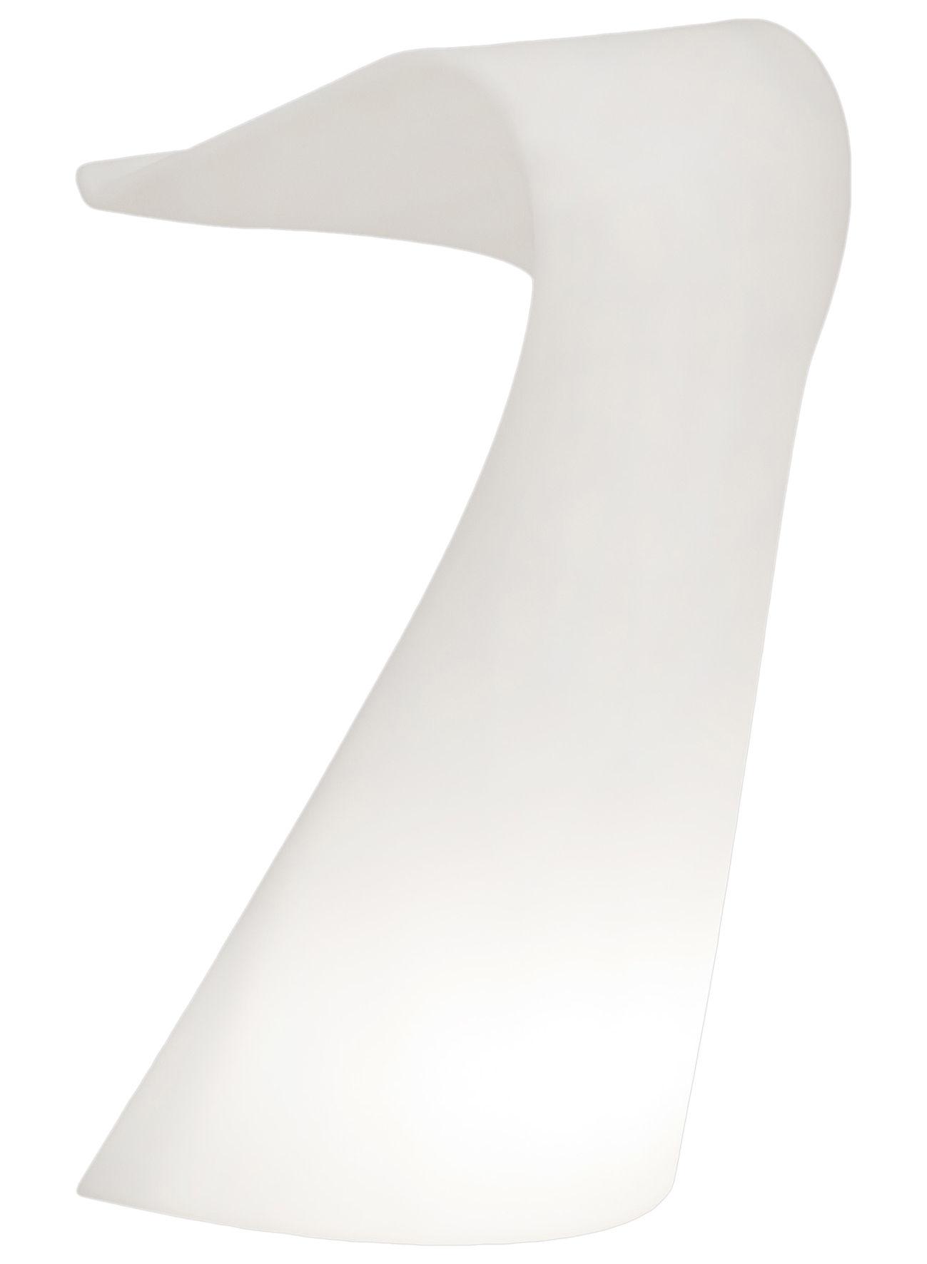 Arredamento - Mobili da ufficio - Scrivania Swish di Slide - Bianco - polietilene riciclabile