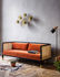 Cannage Straight sofa - / L 210 cm - Velvet by RED Edition