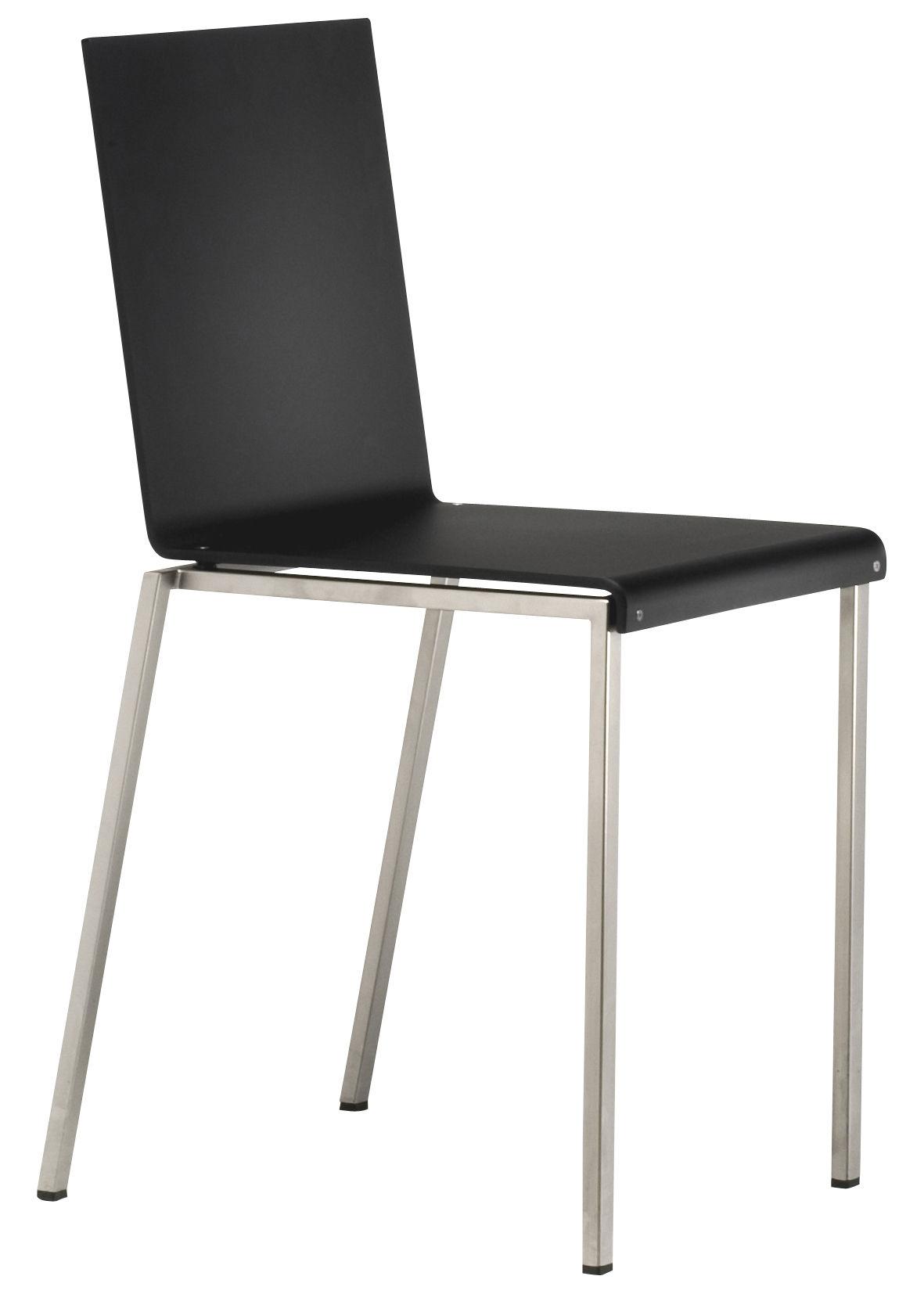 Möbel - Stühle  - Bianca Stuhl - Zeus - Schwarz - Acrylharz, mattierter Stahl