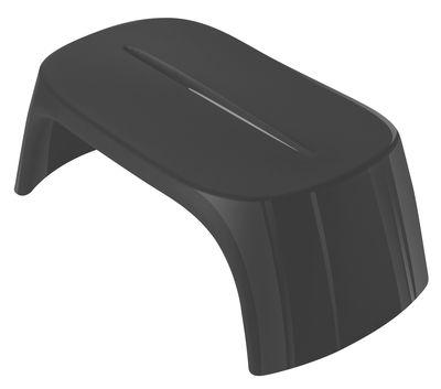 Table basse Amélie / Banc - Version laquée - L 108 cm - Slide laqué noir en matière plastique