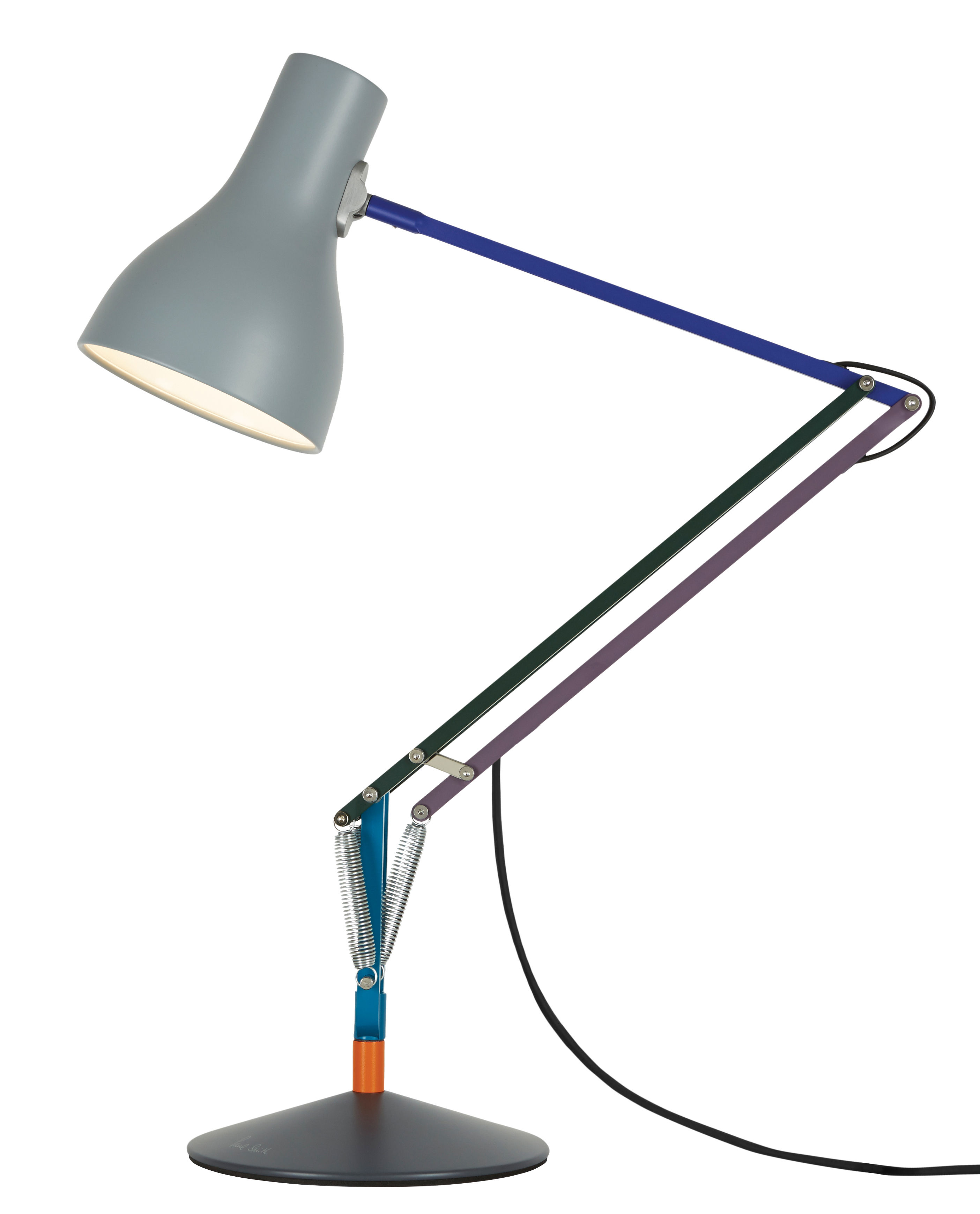 Lighting - Table Lamps - Type 75 Table lamp - / By Paul Smith - Edition no. 2 by Anglepoise - Blue, Purple, Green, Blue - Aluminium