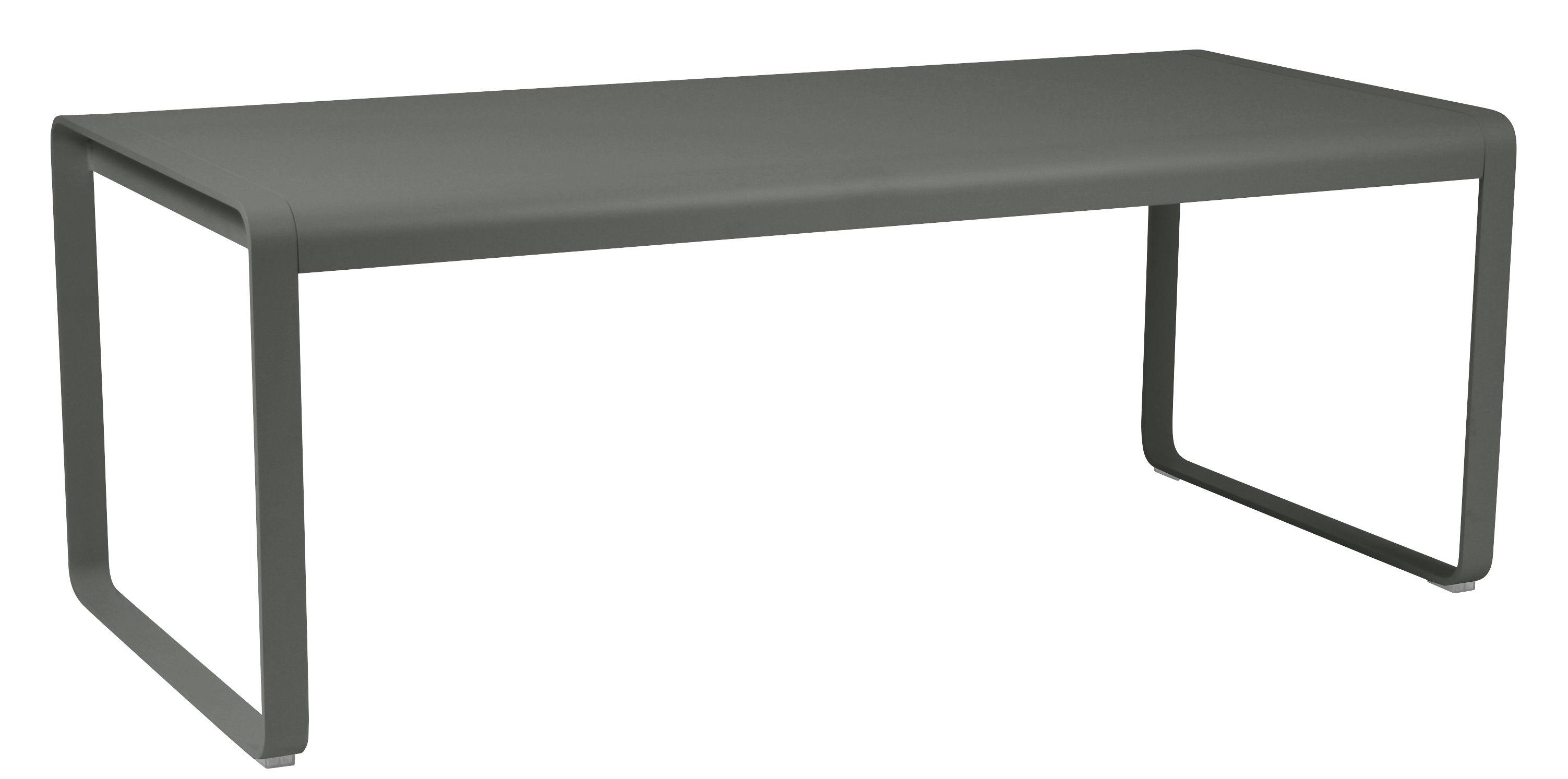 Table rectangulaire Bellevie / L 196 cm - 8 à 10 personnes - Fermob vert/gris en métal