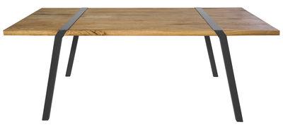 Vitrine DE - Vitrine Mobilier DE - Table rectangulaire Pi / L 200 cm - Pour l'intérieur - Moaroom - Gris Canon de fusil - L 200 cm - Acier laqué, Chêne