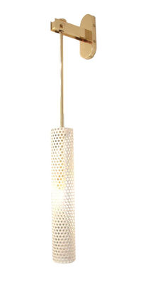 Lighting - Wall Lights - Diva Large Wall light - / H 70 cm by Maison Sarah Lavoine - White / Brass - Brass, Painted steel