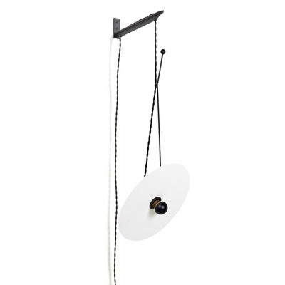 Luminaire - Appliques - Applique avec prise Luna / Orientable - Ø 30 cm / Porcelaine & acier - Serax - Blanc & noir - Acier, Porcelaine