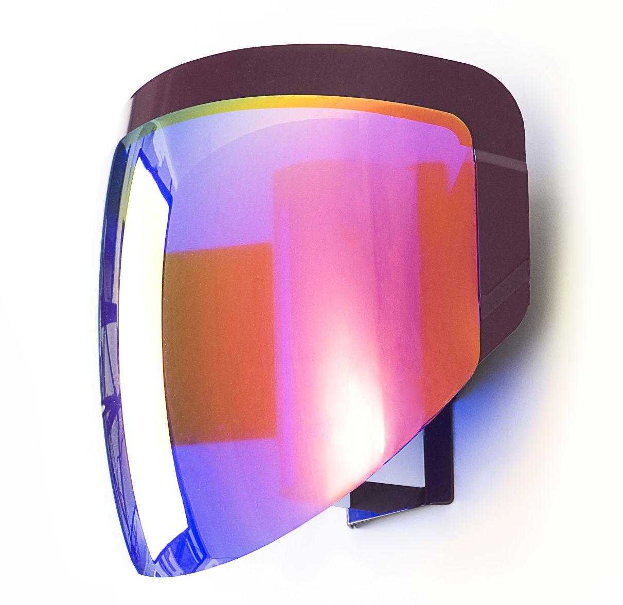 Luminaire - Appliques - Applique avec prise Moto - Moustache - Violet - Métal, PMMA