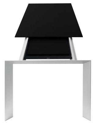 Möbel - Tische - Nori Ausziehtisch zum ausziehen - Kristalia - Platte und Verlängerungen: schwarzes Laminat - eloxiertes Aluminium, stratifiziertes Laminat