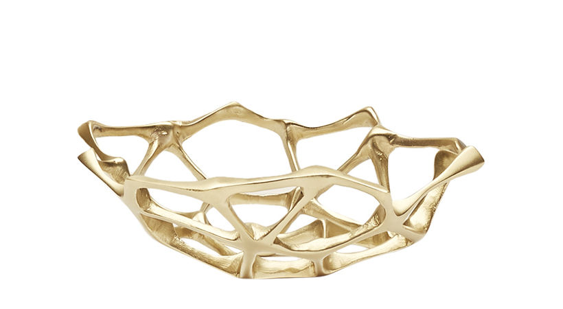 Tableware - Fruit Bowls & Centrepieces - Bone Small Basket - Ø 22 cm by Tom Dixon - Ø 22 cm /Brass - Solid brass