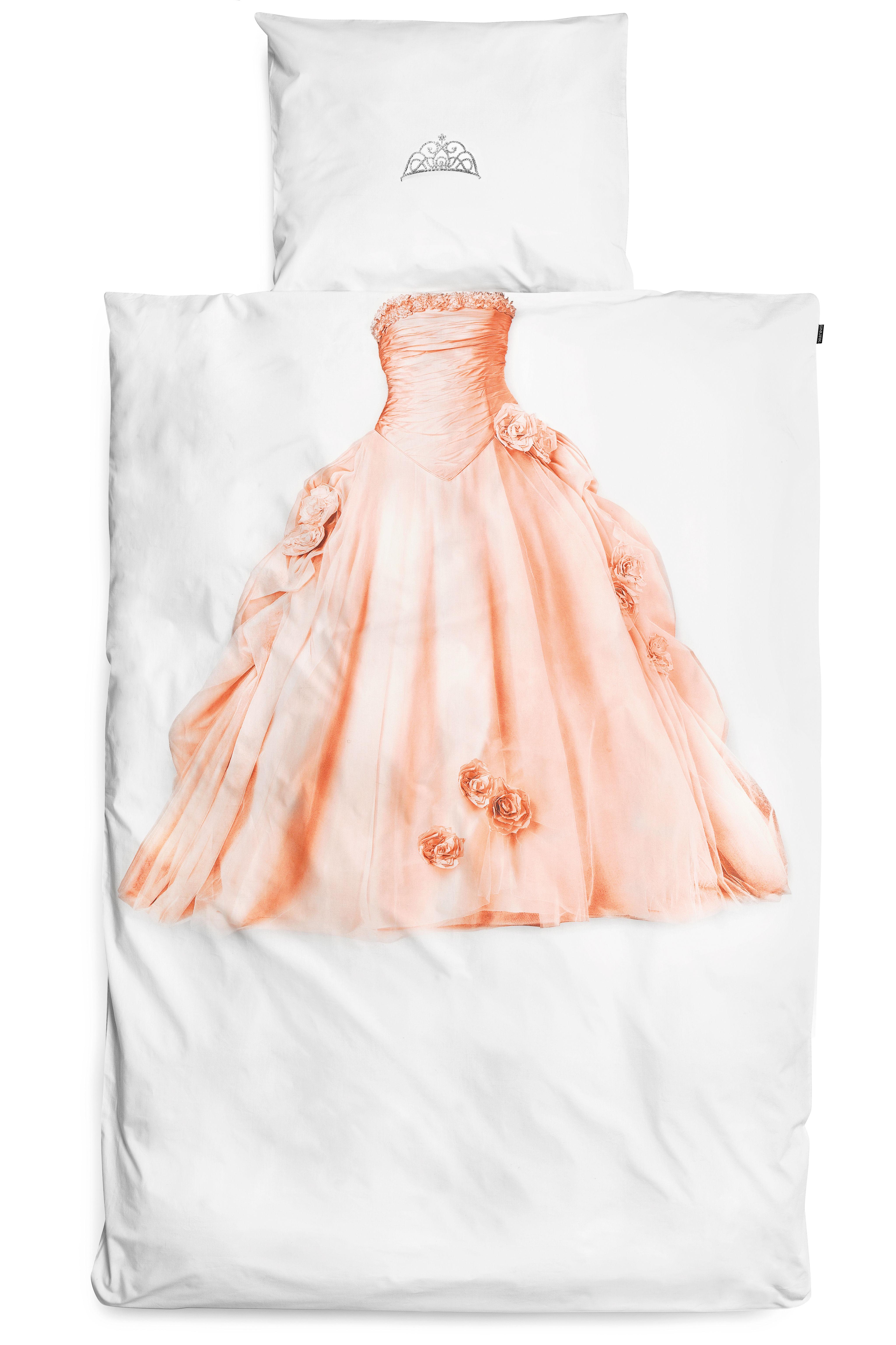 Interni - Per bambini - Biancheria da letto 1 persona Princesse - / 1 persona - 140 x 200 cm di Snurk - Bianco / Principessa - Percalle di cotone