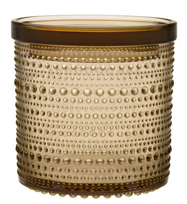 Boîte Kastehelmi / Ø 11,6 cm - Iittala marron en verre