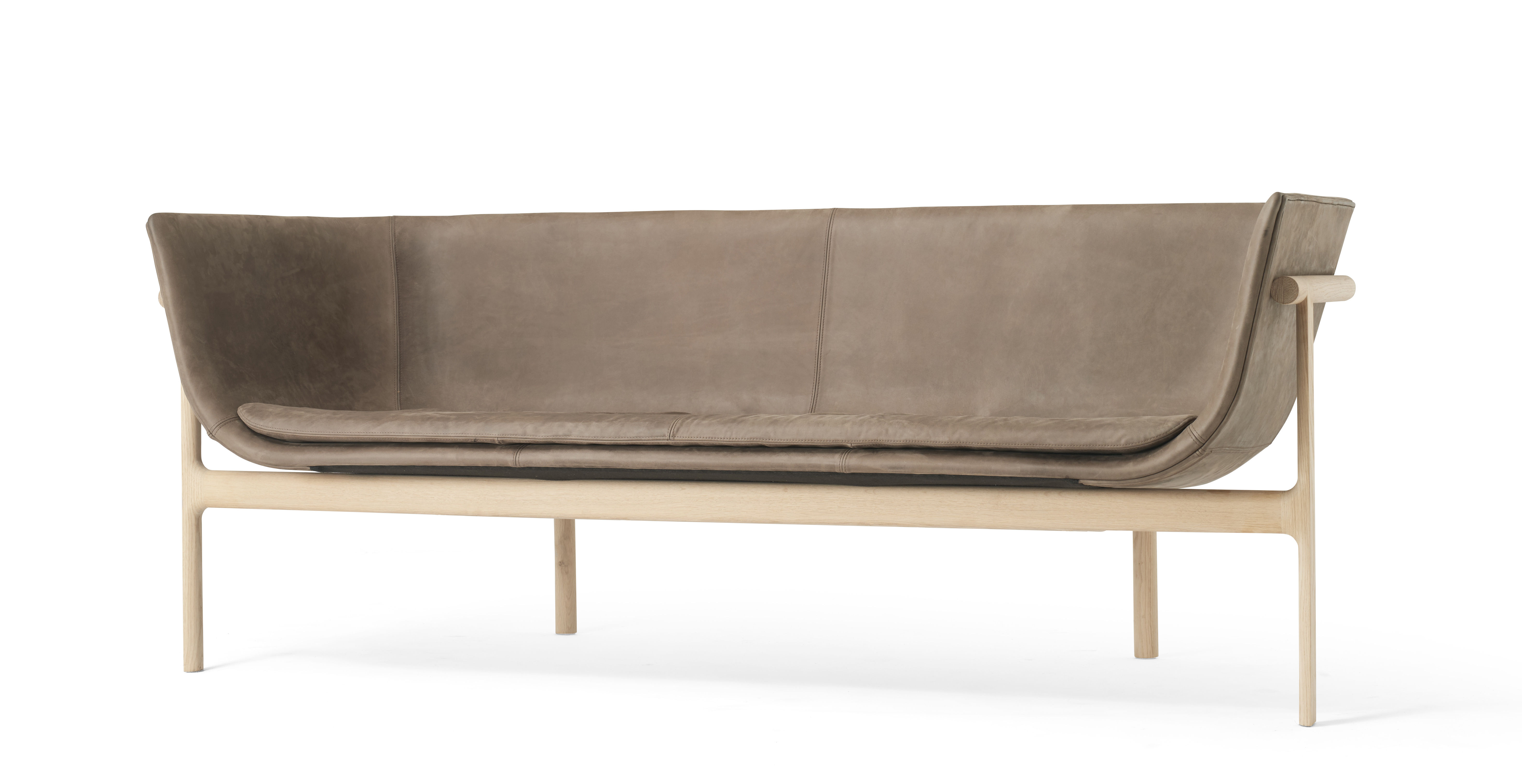 canap droit tailor cuir l 180 cm cuir marron bois menu made in design. Black Bedroom Furniture Sets. Home Design Ideas