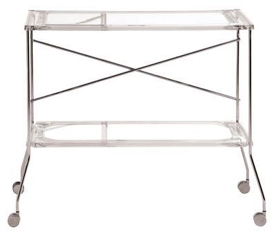 Arredamento - Complementi d'arredo - Carrello/tavolo d'appoggio Flip di Kartell - Trasparente - Alluminio anodizzato, PMMA