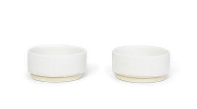 Coupelle Otto / Set de 2 - Frama blanc en céramique