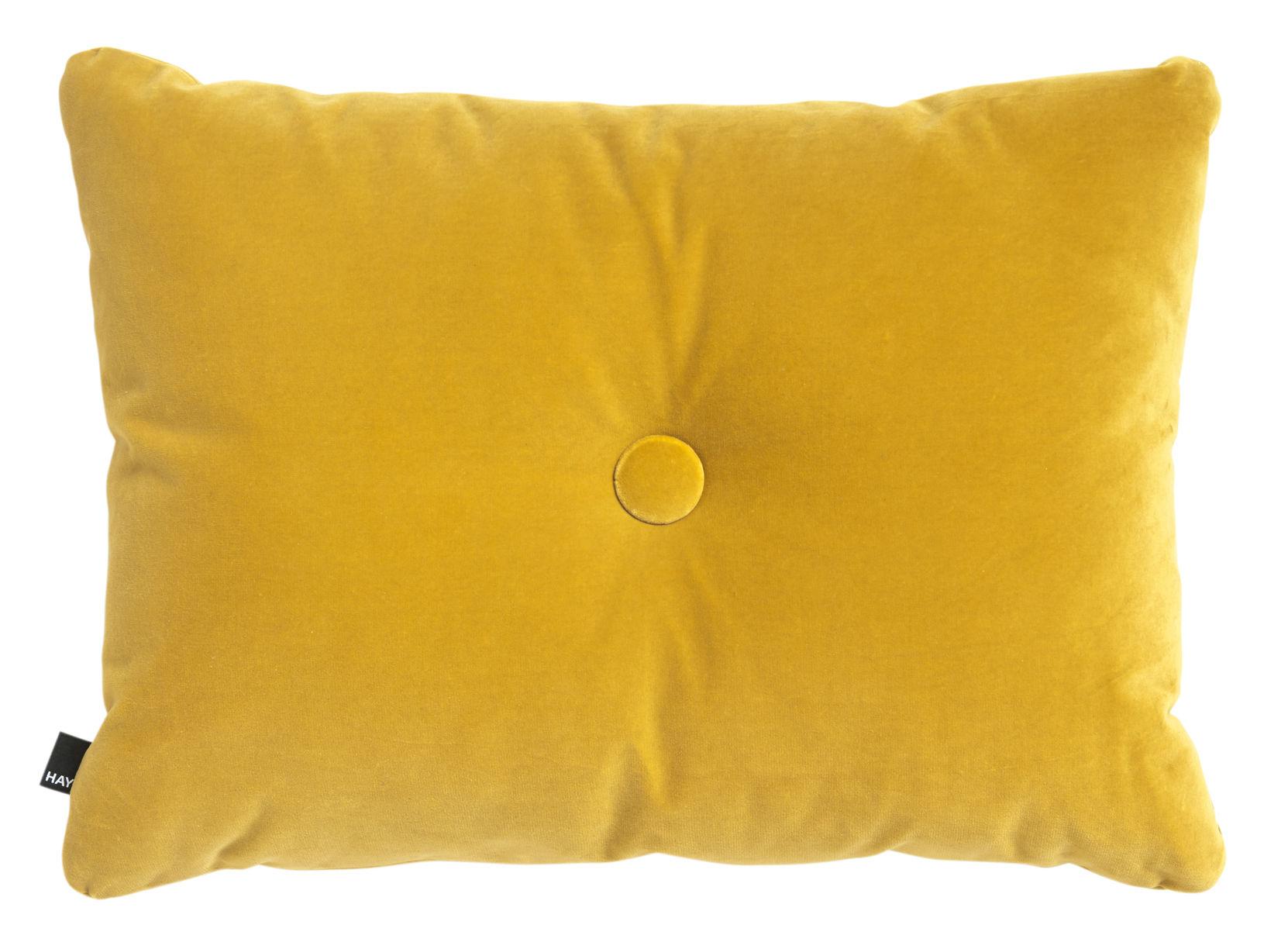 Déco - Coussins - Coussin Dot - Velours / 60 x 45 cm - Hay - Jaune - Coton (velours)