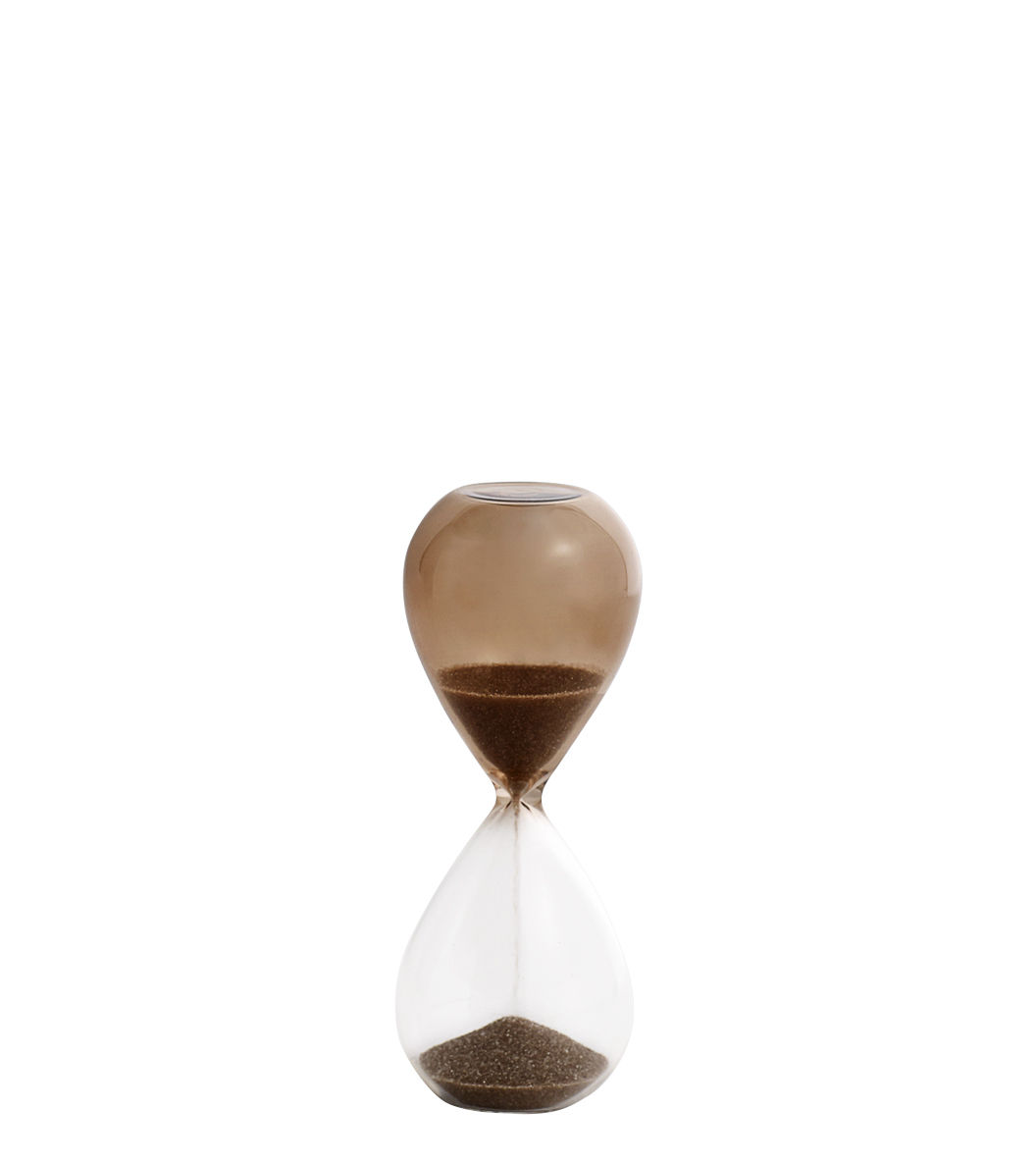 Kitchenware - Kitchen Equipment - Time Small Egg timer - / 3 minutes - H 9 cm by Hay - Transparent / Nude - Glass, Sand