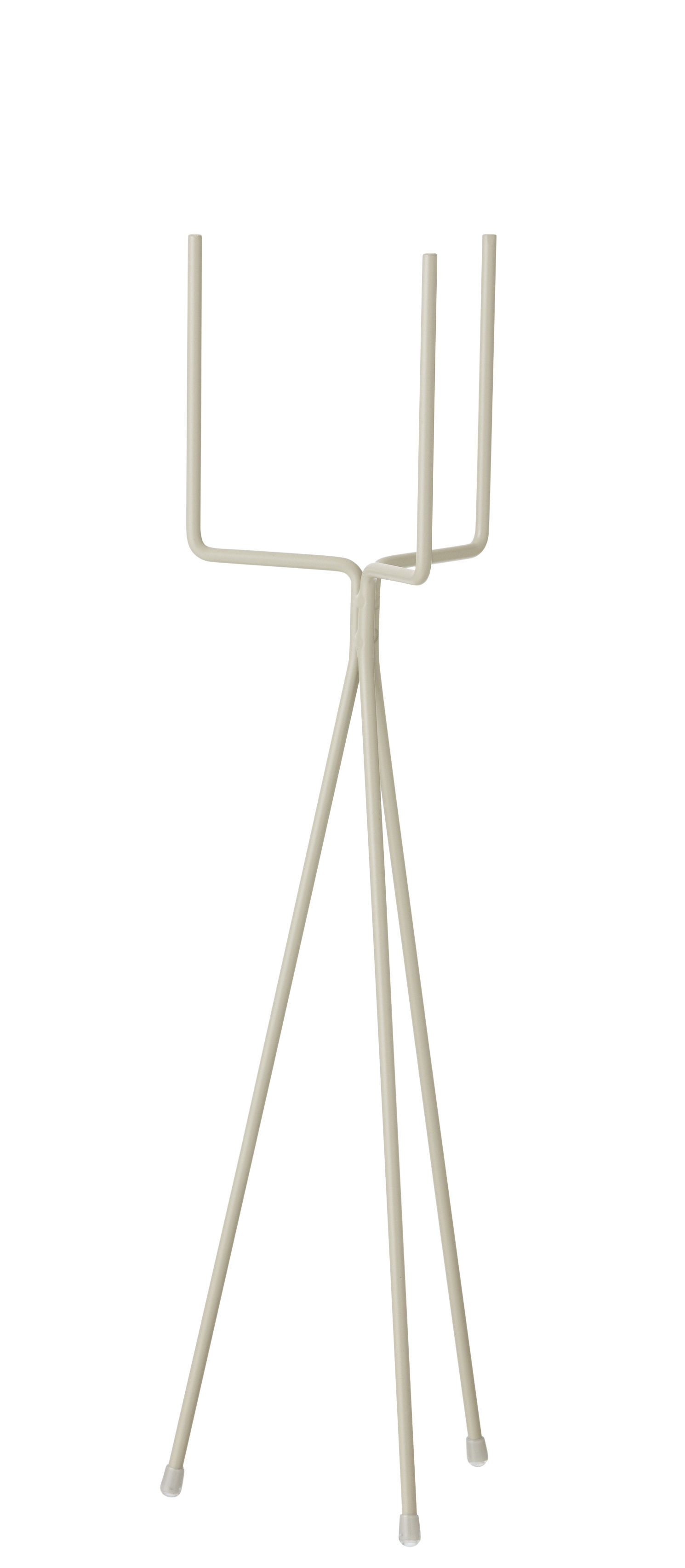Outdoor - Pots & Plants - Plant Stand SMALL Flowerpot stand - For flower pot - H 50 cm by Ferm Living - Grey - Lacquered steel