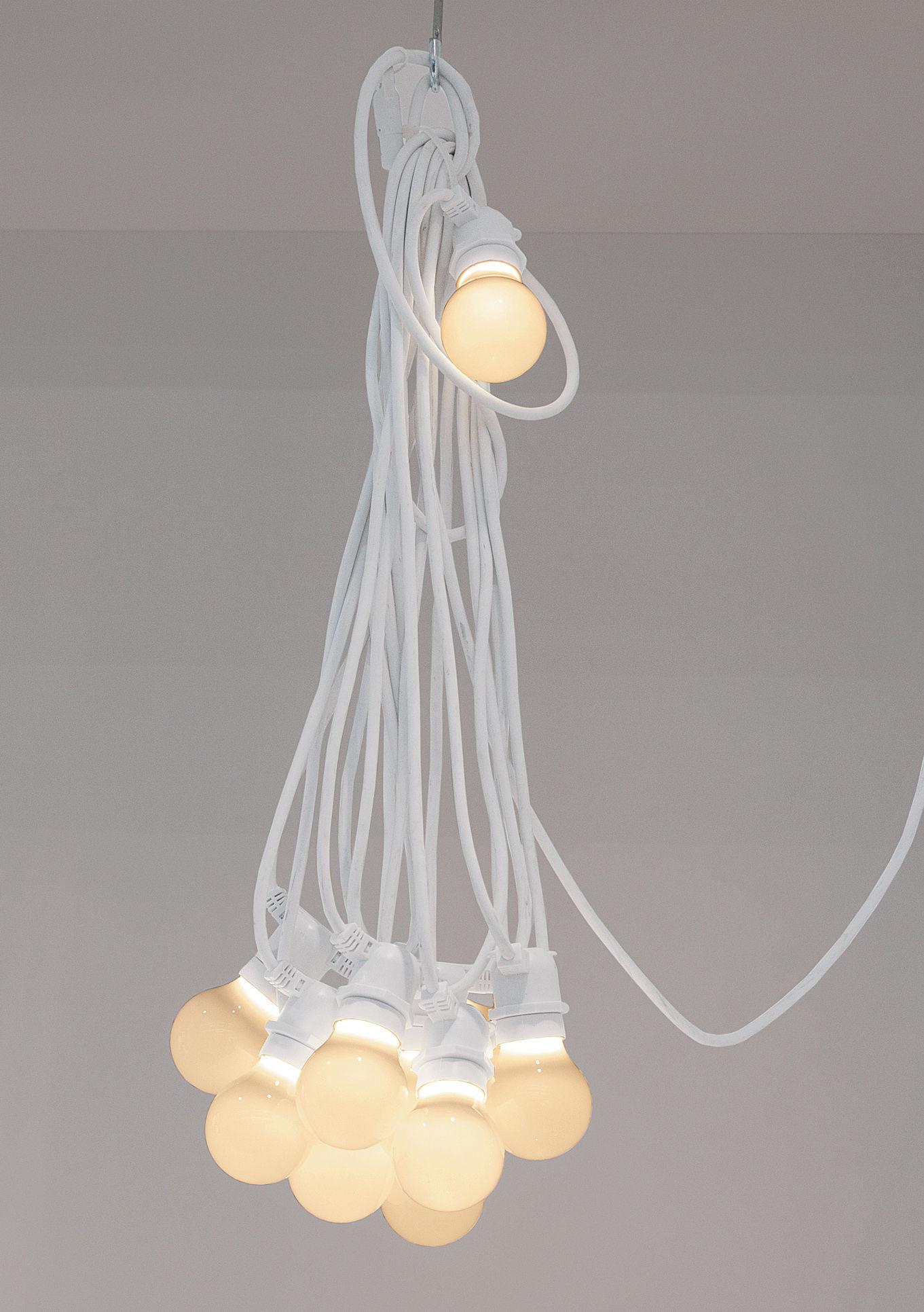 guirlande lumineuse bella vista led - pour l'extérieur câble blanc