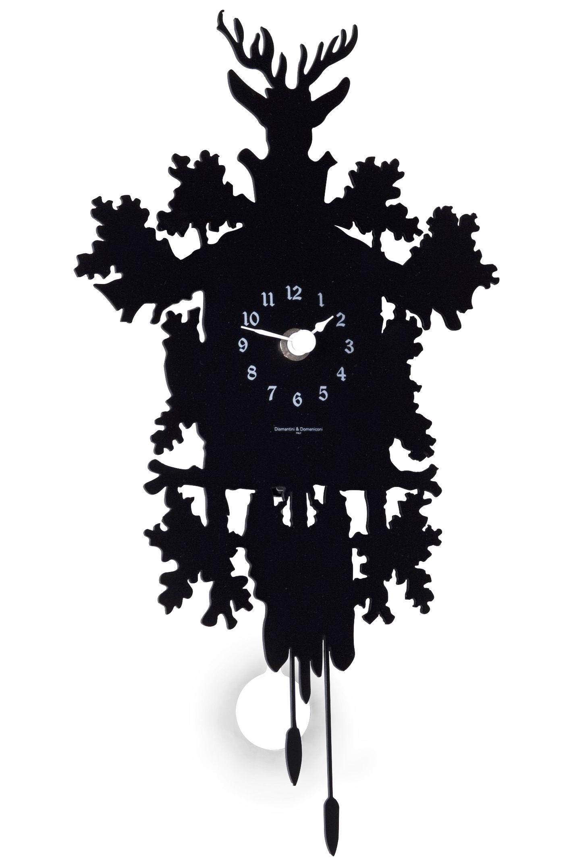Déco - Horloges  - Horloge murale Cucù Mignon / Avec balancier - H 34 cm - Diamantini & Domeniconi - Noir - Acier