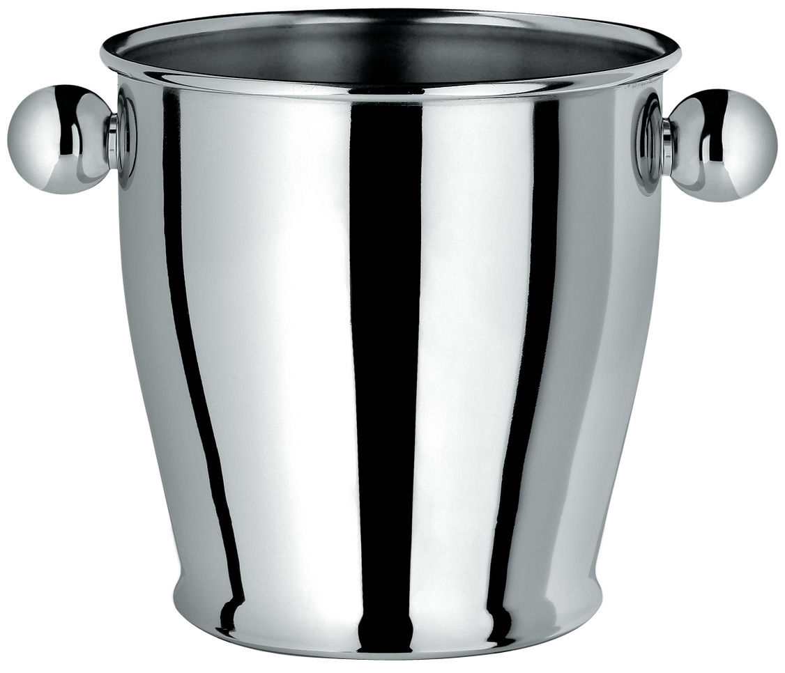 Tableware - Wine Accessories - Memories from the future Ice bucket - Ø 17 cm x H 13 cm by Alessi - Polished steel - Polished steel