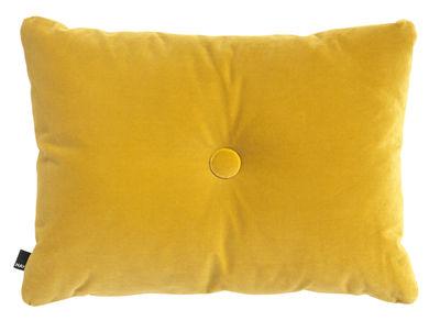 Dekoration - Kissen - Dot - Velours Kissen / 60 x 45 cm - Hay - Gelb - Coton (velours)