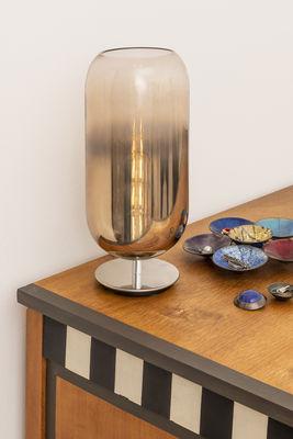 Lampada Da Tavolo Gople Di Artemide Trasparente Metallo Made In Design