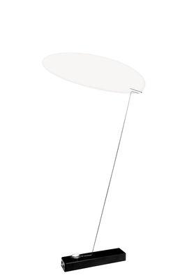 Illuminazione - Lampade da tavolo - Lampada senza fili Koyoo LED - / Carta - Ricarica USB di Ingo Maurer - Bianco / Base nera - alluminio verniciato, Carta, Fil di ferro