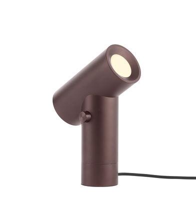 Lampe de table Beam / Double source lumineuse - Base rotative - Muuto ambre en métal