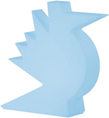 Lampe de table Here / L 50 x H 50 cm - Slide bleu en matière plastique