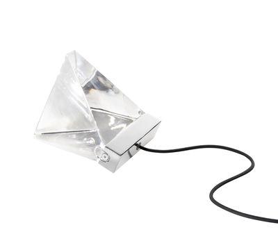 Lampe de table Tripla LED / Cristal - Fabbian chromé,transparent en verre