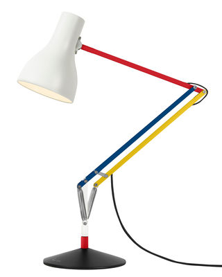 Lampe de table Type 75 / By Paul Smith - Edition n°3 - Anglepoise bleu,jaune,rouge en métal