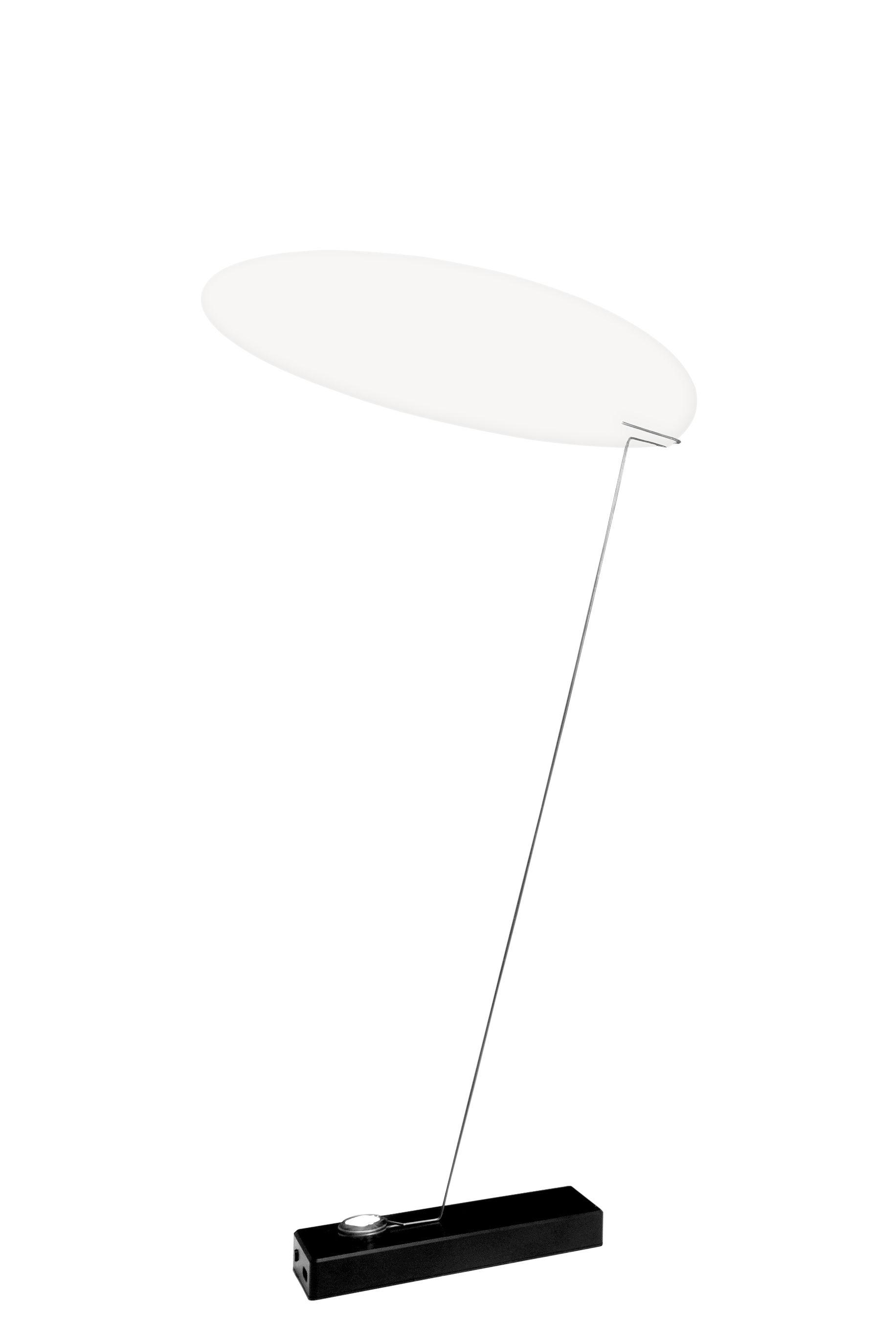 Luminaire - Lampes de table - Lampe sans fil Koyoo LED / Papier - Recharge USB - Ingo Maurer - Blanc / Base noire - Aluminium peint, Fil de fer, Papier