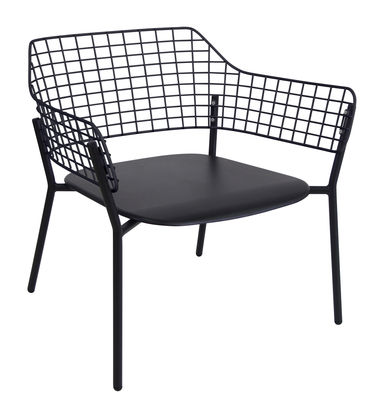 Lyze Lounge Sessel / Metall - Emu - Schwarz