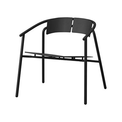 Furniture - Armchairs - Novo Low armchair - / Metal by AYTM - Black - aluminium, powder coating, Powder-coated steel