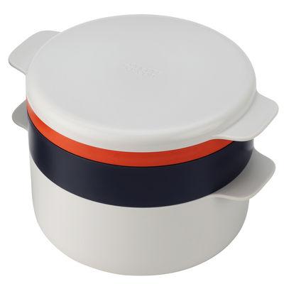 Küche - Küchenutensilien - M-Cuisine Mikrowellentopf / 4 ineinander passende Küchenhelfer - Joseph Joseph - Steingrau / orange - Polypropylen